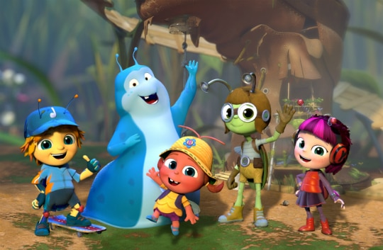 Os personagens de 'Beat Bugs'